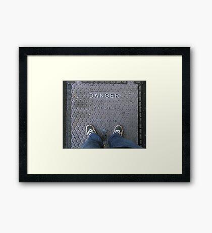 Living Dangerously.. Framed Print