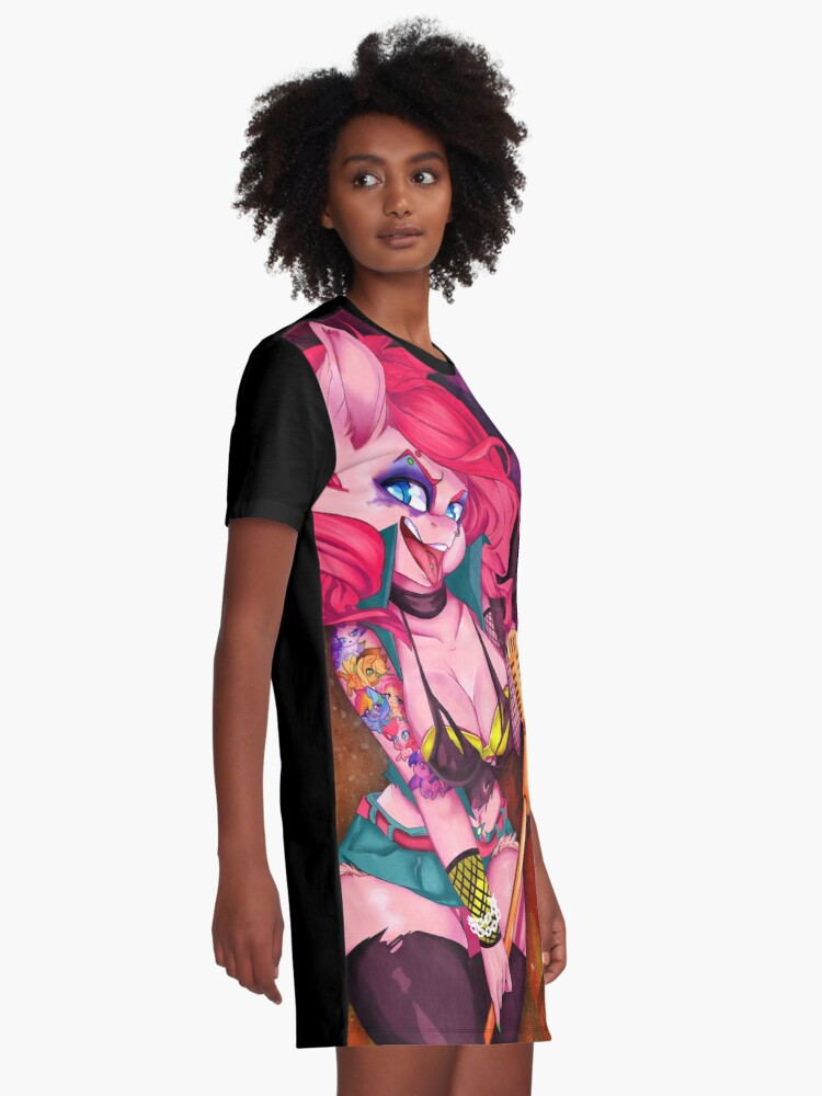 Alternate view of Punk Party Graphic T-Shirt Dress