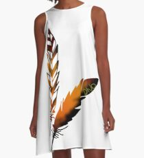 Feather A-Line Dress