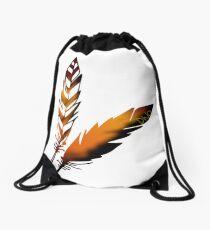Feather Drawstring Bag