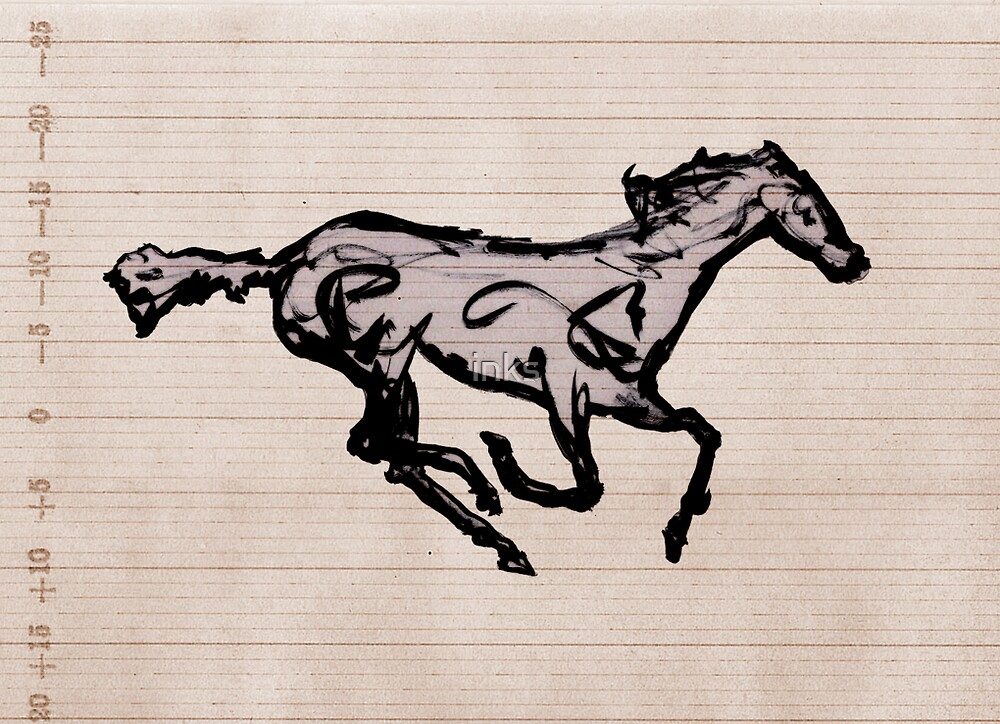 Galloping by inks