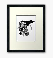 Nymeria (black & white) Framed Print