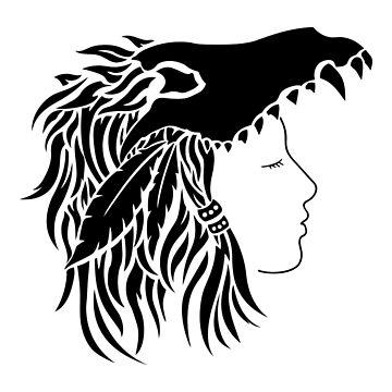 Nymeria (black & white) by RedTideCreative