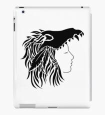 Nymeria (black & white) iPad Case/Skin