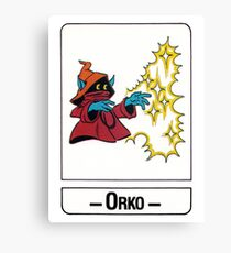 He-Man - Orko - Trading Card Design Canvas Print