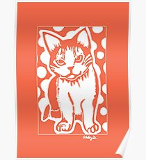 Orange and White Cat Poster