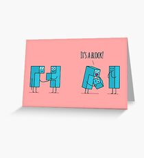 Kawaii tetris blocks family.  Greeting Card