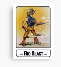 He-Man - Rio Blast - Trading Card Design Canvas Print