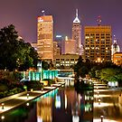 Indianapolis Skyline (Canal Walk Bridge View) by Gregory Ballos