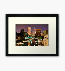 Indianapolis Skyline (Canal Walk Bridge View) Framed Print