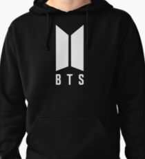 BTS new logo white Pullover Hoodie