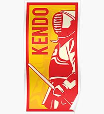 Japanese Kendo Sign #2 Poster