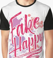 Fake Happy Graphic T-Shirt