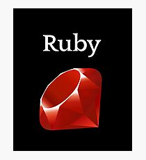 Ruby Programming Photographic Print