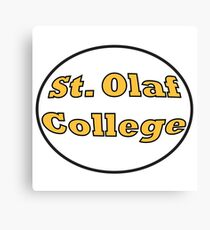 St. Olaf College Round  Canvas Print