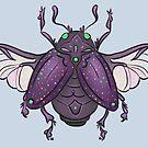 Midnight magic scarab by Wieskunde