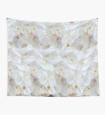 WHITE PEDALS Wall Tapestry