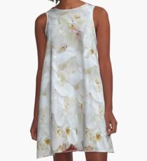 WHITE PEDALS A-Line Dress