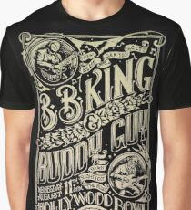 BB King Hollywood Bowl Vintage Concert Poster Graphic T-Shirt