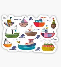 So many boats! Sticker