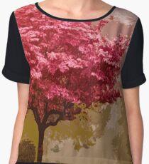 Cherry Blossom Women's Chiffon Top