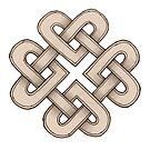Intertwined Celtic Knot Hearts by Carrie Dennison