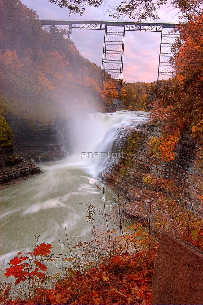 Upper Falls, Letchworth Vertical by snaptoit