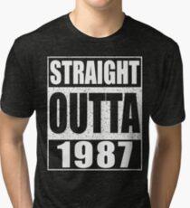 Straight Outta 1987 Funny 30th Birthday Gift Tri-blend T-Shirt