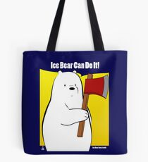 Ice Bear Can Do It! Tote Bag