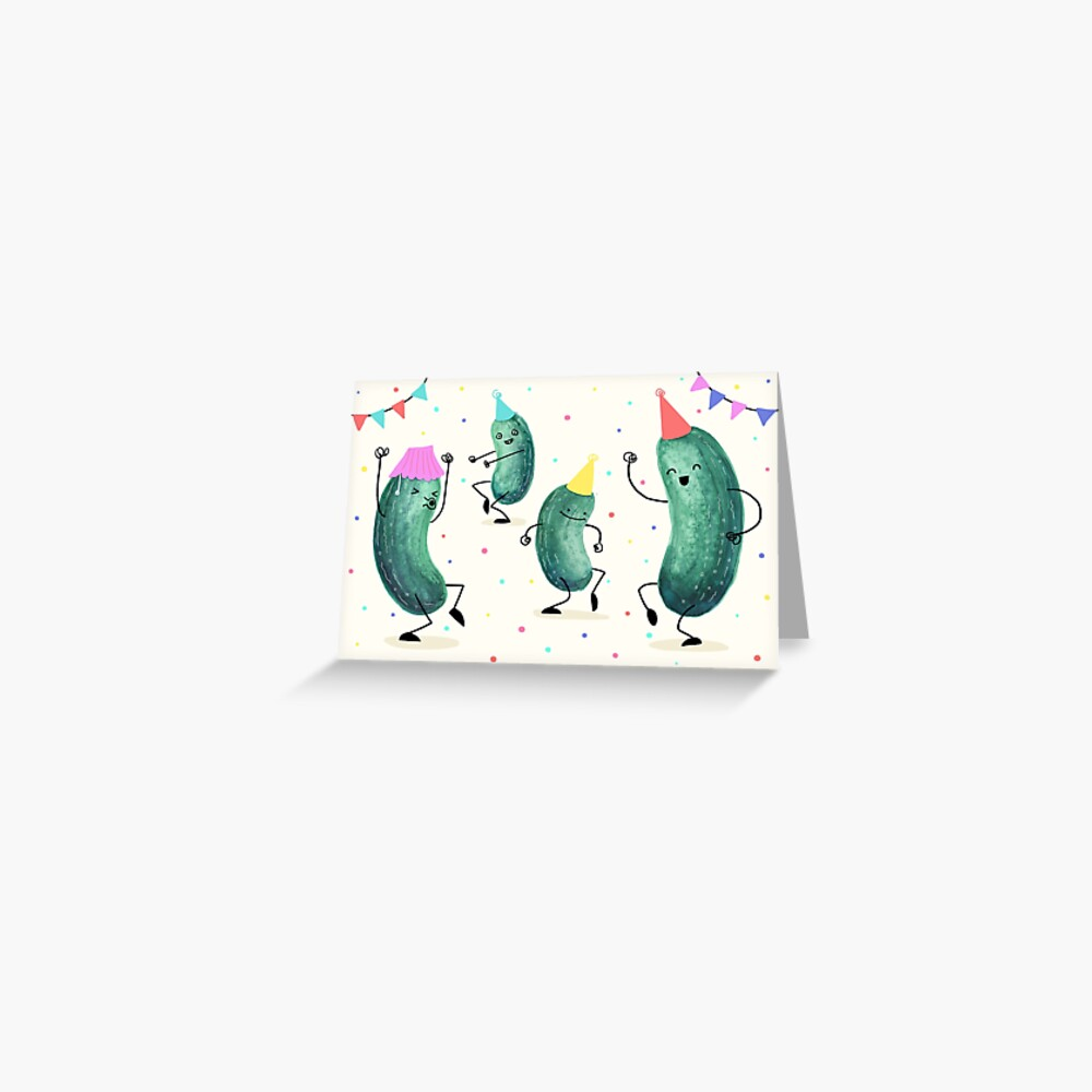Pickle Party! Greeting Card