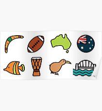 Australian Icons Poster