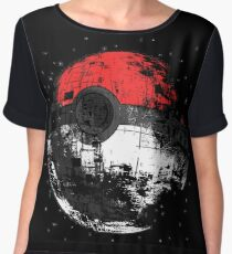 Pokemon Death Star Ultimate ! Women's Chiffon Top