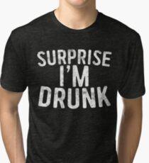 Camiseta de tejido mixto Sorpresa estoy borracho