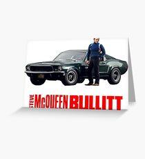 STEVE MCQUEEN BULLITT FORD MUSTANG Greeting Card