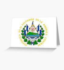 Armoiries du Salvador Carte de vœux
