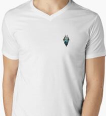 Skyrim, waterfalls Men's V-Neck T-Shirt