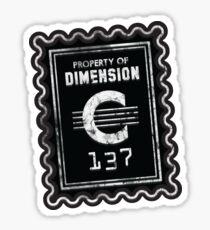 Property of Dimension C-137 Sticker