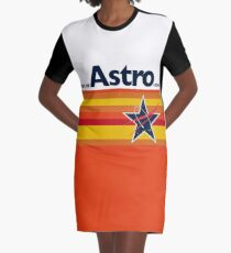Man or Astro-Man? Vintage Baseball Graphic T-Shirt Dress