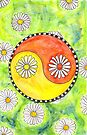 Yin Yang Daisies by Carrie Dennison