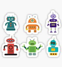 Happy Toy Robots Sticker
