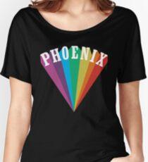 Phoenix Rainbow Black Women's Relaxed Fit T-Shirt