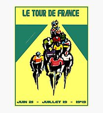 TOUR DE FRANCE: Vintage Bicycle Racing Advertising Print Photographic Print