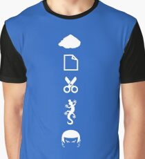 Rock Paper Scissors Lizard Spock Graphic T-Shirt