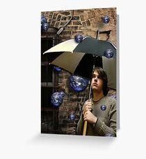 the world rains on me Greeting Card