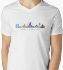 Meet me at my Happy Place Vector Orlando Theme Park Illustration Design T-Shirt