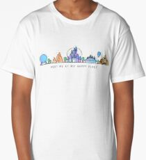 Meet me at my Happy Place Vector Orlando Theme Park Illustration Design Long T-Shirt