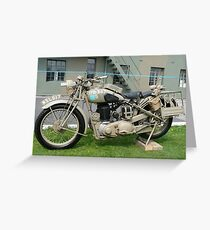 WW2 British Army Motorcycle Greeting Card