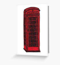 British Telephone Box Greeting Card