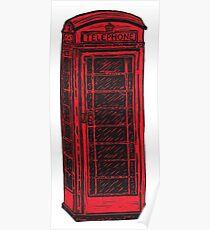 British Telephone Box Poster