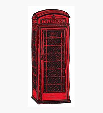 British Telephone Box Photographic Print